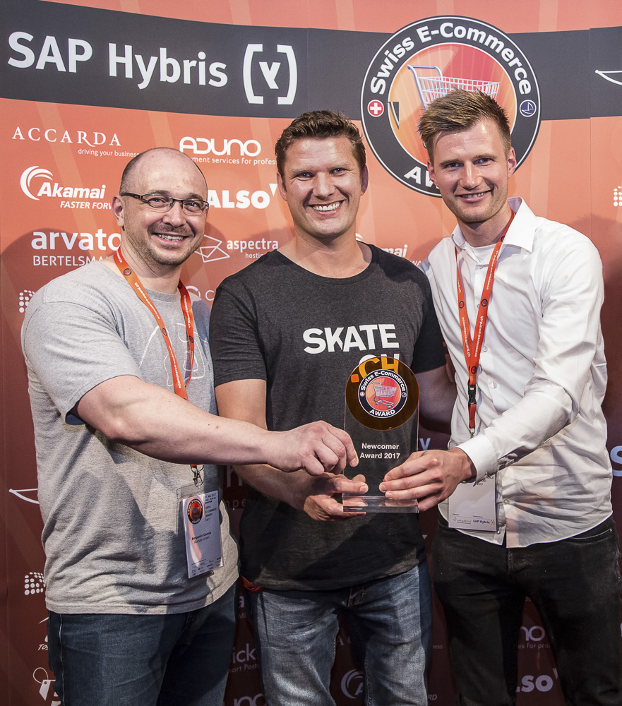 SKATE.CH wins Swiss E-Commerce Award best Newcomer